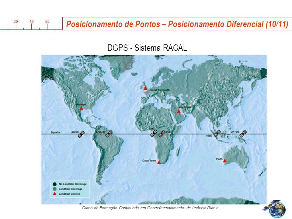 3040 50 Curso de Formação Continuada em Georreferenciamento de Imóveis Rurais Posicionamento de Pontos – Posicionamento Diferencial (10/11) R DGPS - Sistema RACAL