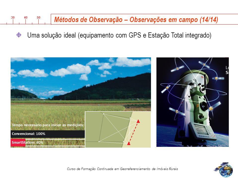 3040 50 Curso de Formação Continuada em Georreferenciamento de Imóveis Rurais Métodos de Observação – Observações em campo (14/14) Uma solução ideal (equipamento com GPS e Estação Total integrado)