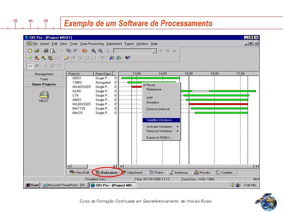 3040 50 Curso de Formação Continuada em Georreferenciamento de Imóveis Rurais Exemplo de um Software de Processamento