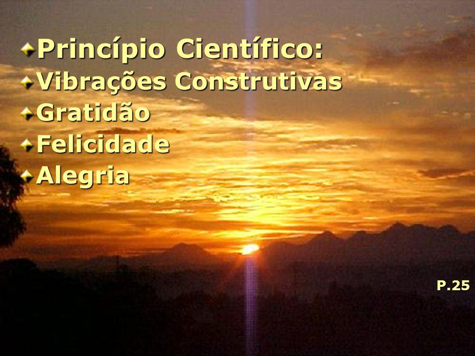 Princípio Científico: Vibrações Construtivas GratidãoFelicidadeAlegriaP.25