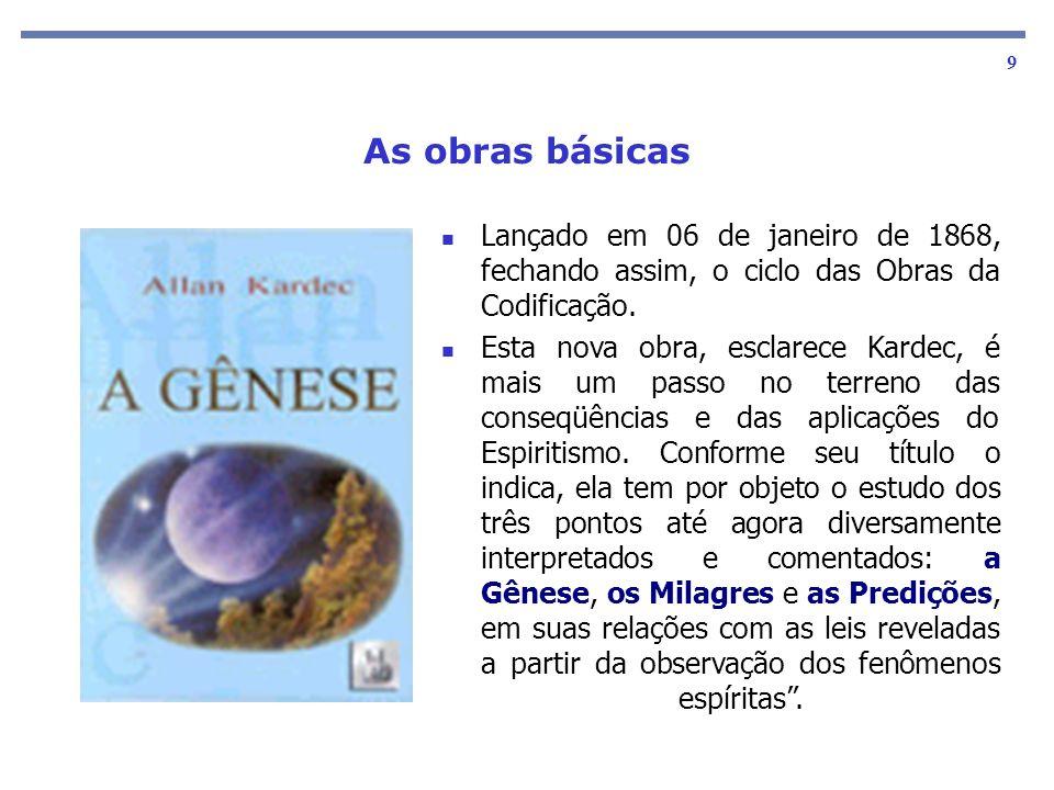 As obras básicas 10 Este livro foi publicado somente 21 anos após a desencarnação de Allan Kardec.