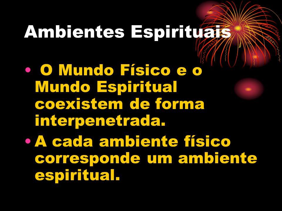 Ambientes Espirituais O Mundo Físico e o Mundo Espiritual coexistem de forma interpenetrada.