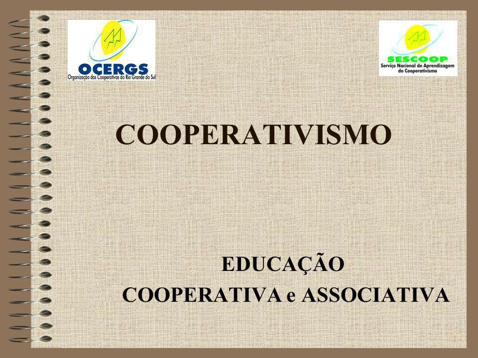 2 Sociedades cooperativas As cooperativas são uma realidade em todo o mundo e cada vez mais se fortalecem como forma de organização empresarial que objetiva a justiça social através da diminuição das desigualdades entre os homens