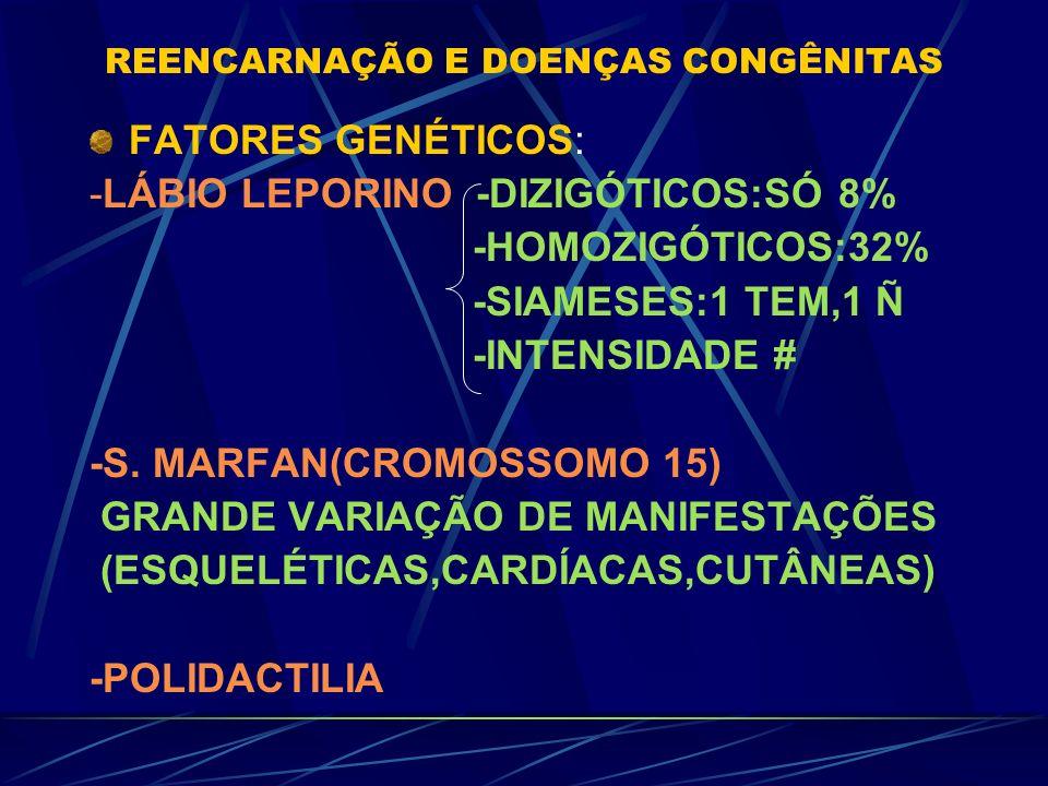 REENCARNAÇÃO E DOENÇAS CONGÊNITAS DOENÇAS E MAL FORMAÇÕES (MARCAS DE NASCENÇA) *DR.IAN STEVENSON:40 ANOS/2600 CASOS *DR.HERNANI GUIMARÃES ANDRADE CAUS