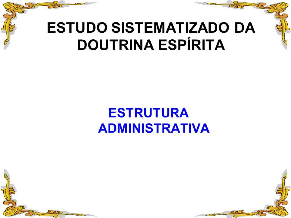 ESTUDO SISTEMATIZADO DA DOUTRINA ESPÍRITA ESTRUTURA ADMINISTRATIVA
