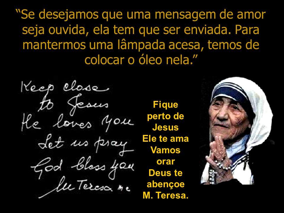 Se você ainda não recebeu Jesus em seu coração, pode fazê-lo agora repetindo esta pequena prece: Querido Jesus, Eu acredito que és o Filho de Deus, me