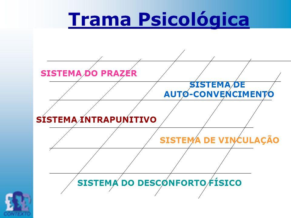SISTEMA DO PRAZER SISTEMA DE AUTO-CONVENCIMENTO SISTEMA DE VINCULAÇÃO SISTEMA DO DESCONFORTO FÍSICO SISTEMA INTRAPUNITIVO