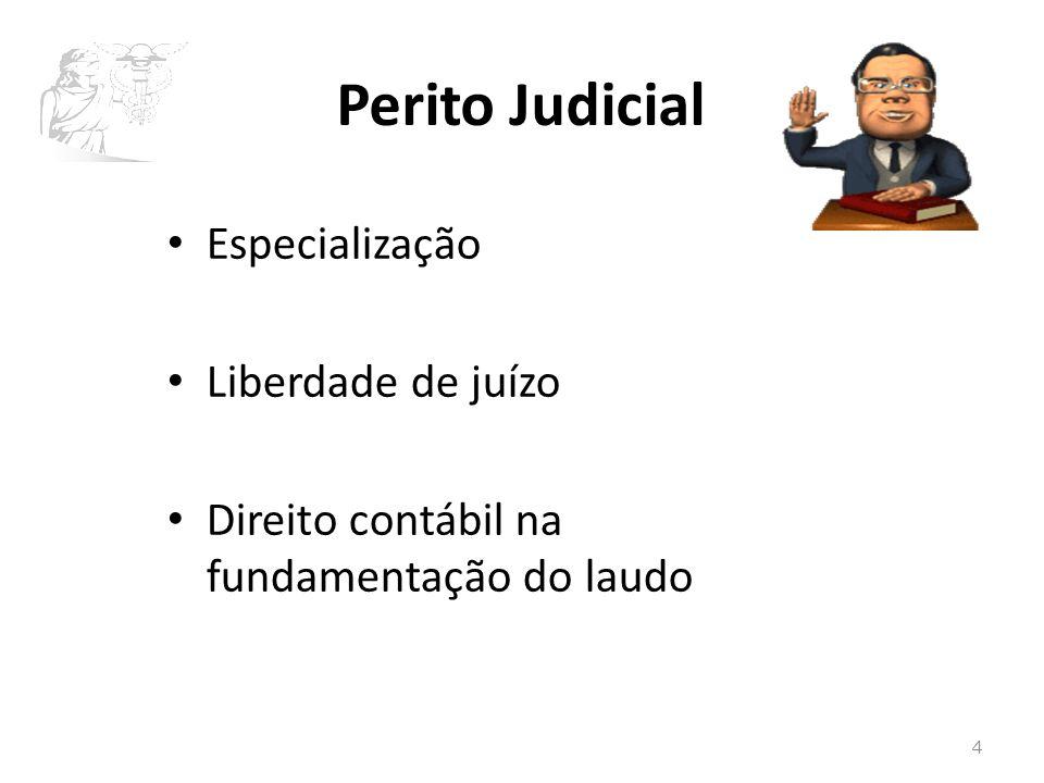 Perito Judicial Especialização Liberdade de juízo Direito contábil na fundamentação do laudo 4