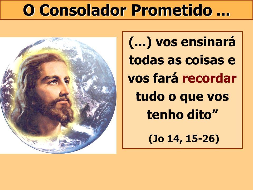 O Consolador Prometido... (...) vos ensinará todas as coisas e vos fará recordar tudo o que vos tenho dito (Jo 14, 15-26)