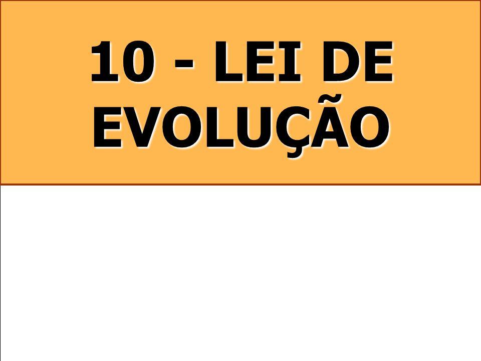 10 - LEI DE EVOLUÇÃO