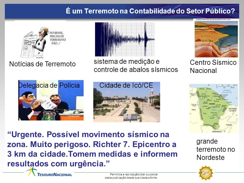 Permitida a reprodução total ou parcial desta publicação desde que citada a fonte. É um Terremoto na Contabilidade do Setor Público? sistema de mediçã
