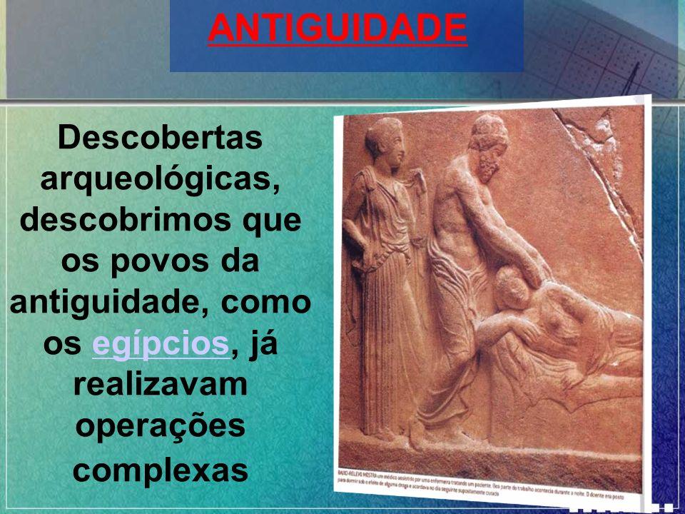 Descobertas arqueológicas, descobrimos que os povos da antiguidade, como os egípcios, já realizavam operações complexasegípcios ANTIGUIDADE