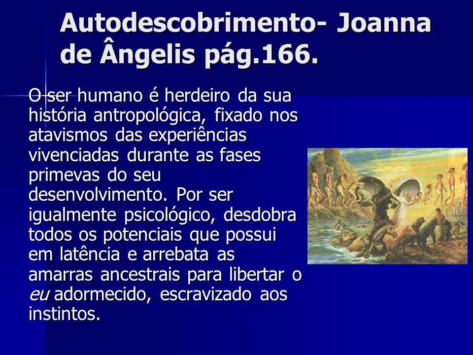 Autodescobrimento- Joanna de Ângelis pág.166. O ser humano é herdeiro da sua história antropológica, fixado nos atavismos das experiências vivenciadas
