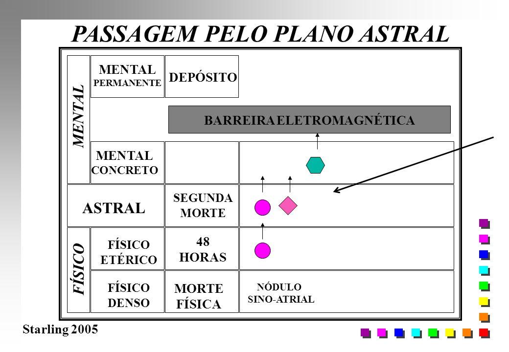 Starling 2005 PASSAGEM PELO PLANO ASTRAL FÍSICO DENSO FÍSICO ETÉRICO ASTRAL MENTAL CONCRETO MORTE FÍSICA 48 HORAS BARREIRA ELETROMAGNÉTICA NÓDULO SINO