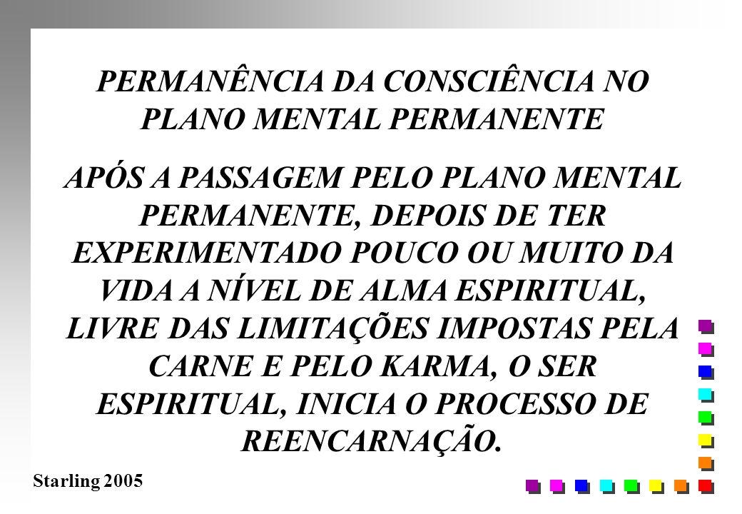 Starling 2005 PERMANÊNCIA DA CONSCIÊNCIA NO PLANO MENTAL PERMANENTE APÓS A PASSAGEM PELO PLANO MENTAL PERMANENTE, DEPOIS DE TER EXPERIMENTADO POUCO OU