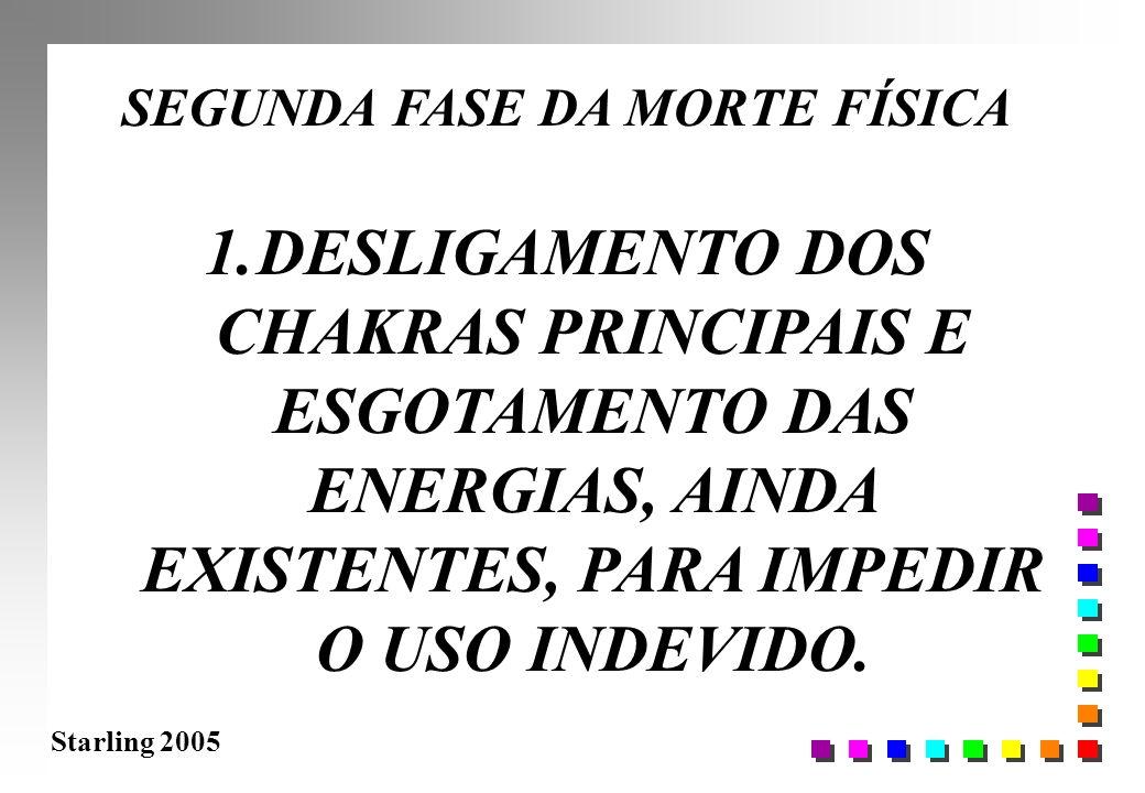 Starling 2005 SEGUNDA FASE DA MORTE FÍSICA 1.DESLIGAMENTO DOS CHAKRAS PRINCIPAIS E ESGOTAMENTO DAS ENERGIAS, AINDA EXISTENTES, PARA IMPEDIR O USO INDE