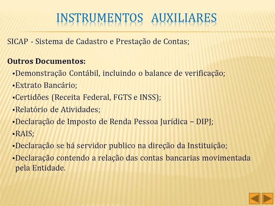 Estatuto Social Relatório de Atividades Conciliação Bancária Convênios/Contratos Estatuto Social Relatório de Atividades Conciliação Bancária Convênio