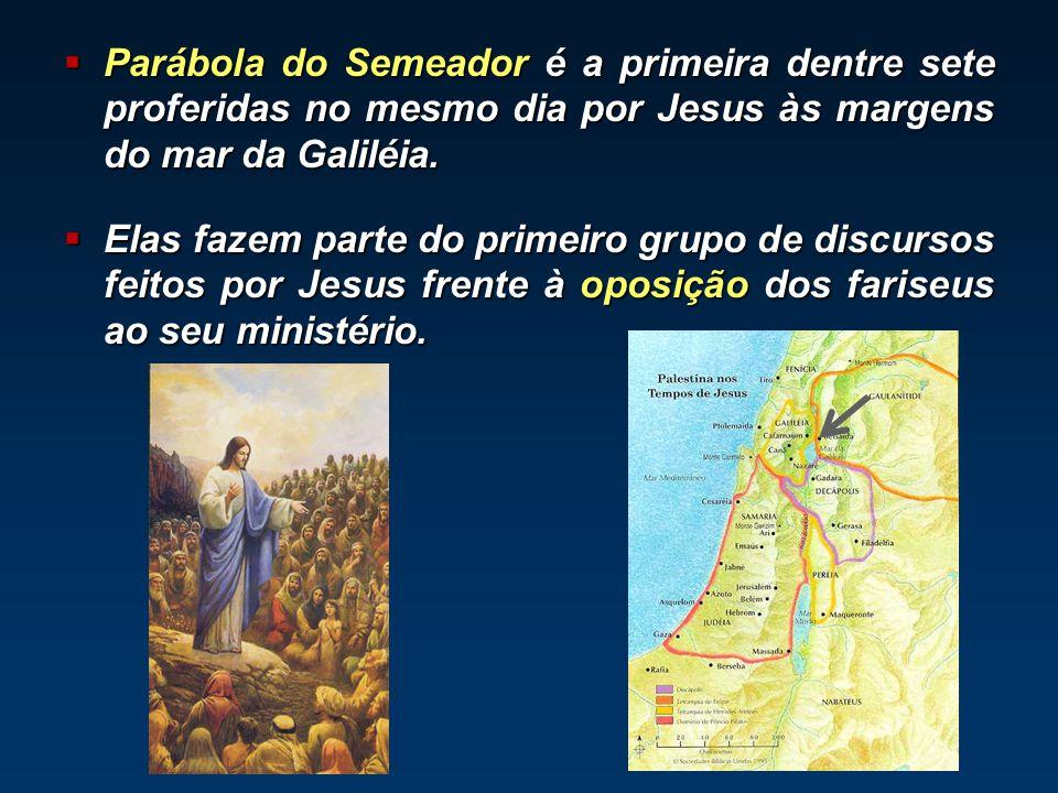 Parábola do Semeador é a primeira dentre sete proferidas no mesmo dia por Jesus às margens do mar da Galiléia. Parábola do Semeador é a primeira dentr