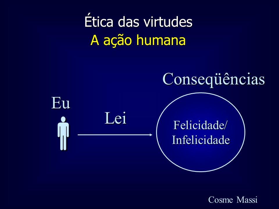 Ética das virtudes A ação humana Cosme Massi Felicidade/Infelicidade Eu LeiConseqüências