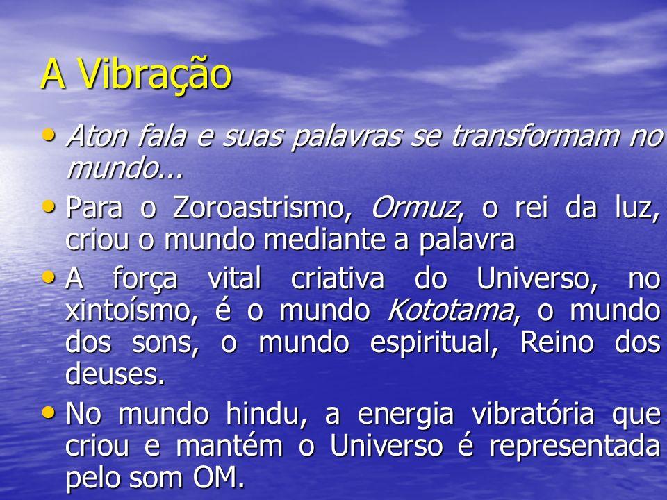 A Vibração Aton fala e suas palavras se transformam no mundo... Aton fala e suas palavras se transformam no mundo... Para o Zoroastrismo, Ormuz, o rei