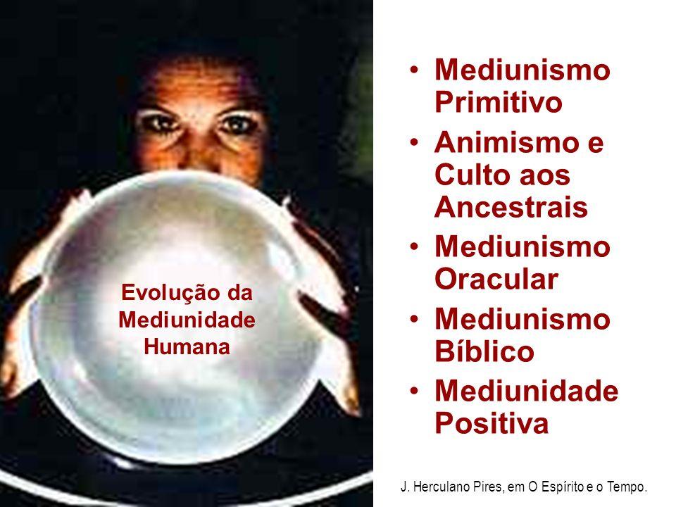 Mediunismo Primitivo Animismo e Culto aos Ancestrais Mediunismo Oracular Mediunismo Bíblico Mediunidade Positiva Evolução da Mediunidade Humana J.