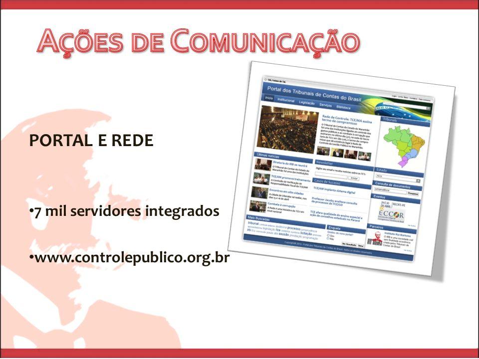 PORTAL E REDE 7 mil servidores integrados www.controlepublico.org.br