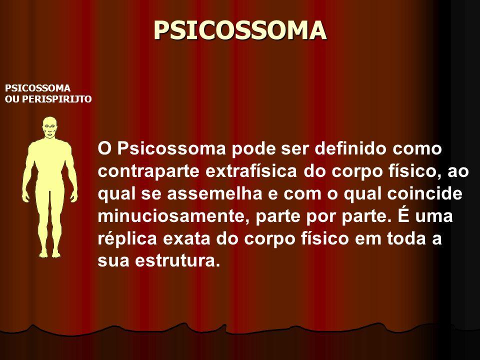 PSICOSSOMA PSICOSSOMA OU PERISPIRIJTO O Psicossoma pode ser definido como contraparte extrafísica do corpo físico, ao qual se assemelha e com o qual c
