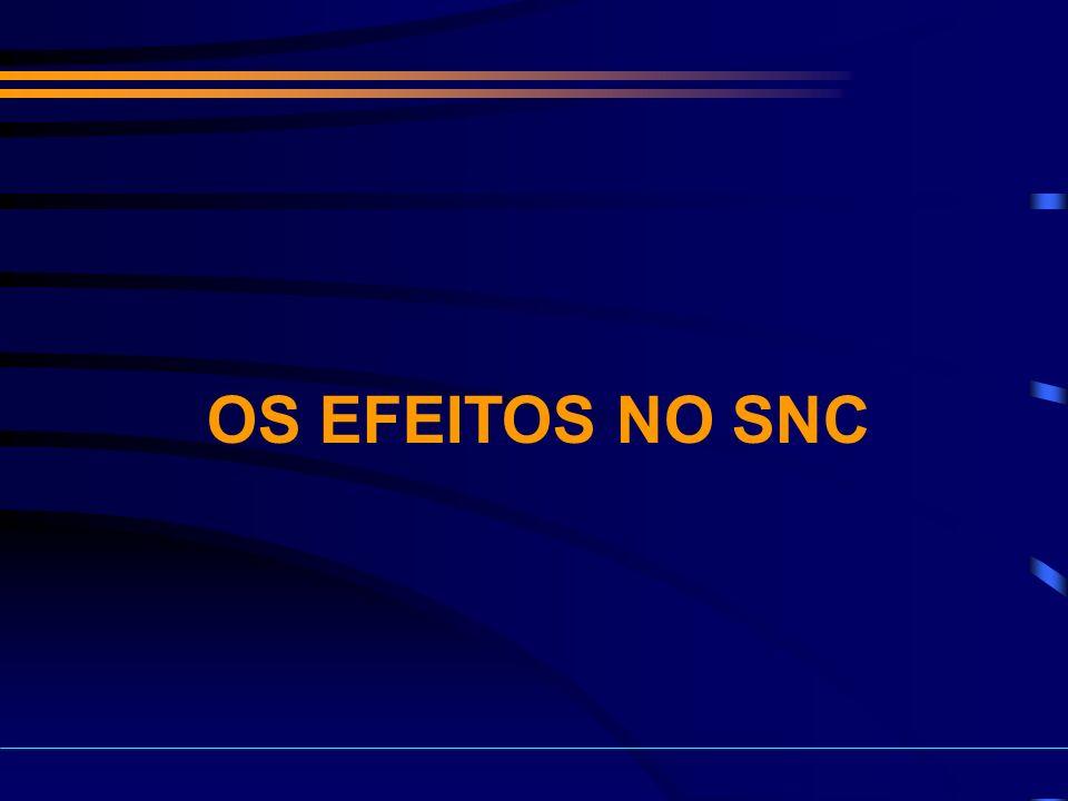 OS EFEITOS NO SNC