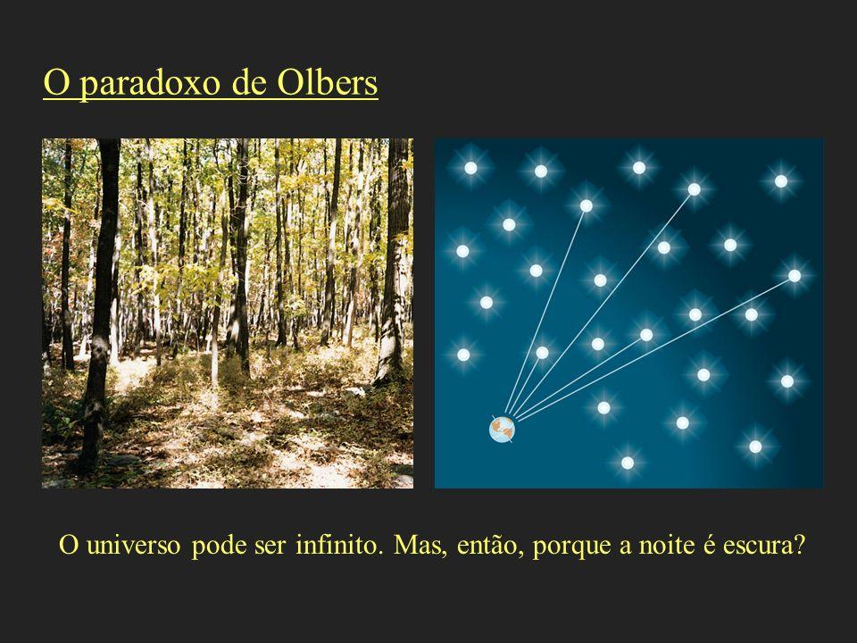 O paradoxo de Olbers O universo pode ser infinito. Mas, então, porque a noite é escura?