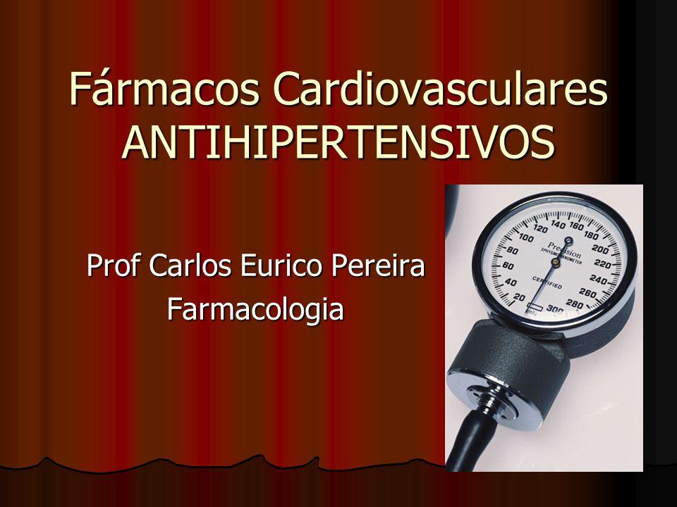 Fármacos Cardiovasculares ANTIHIPERTENSIVOS Prof Carlos Eurico Pereira Farmacologia