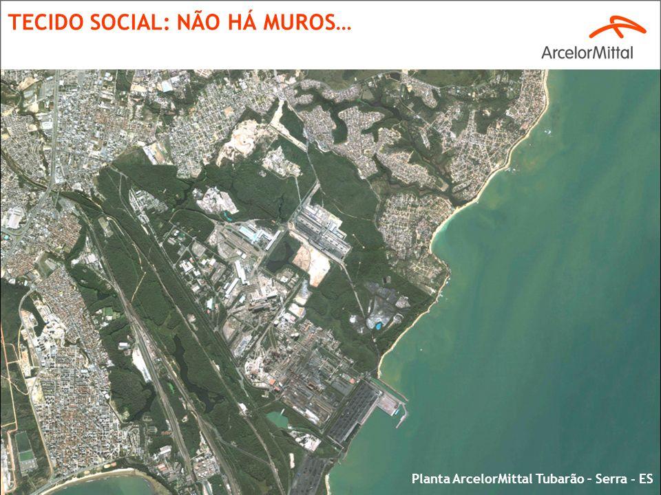 8 TECIDO SOCIAL: NÃO HÁ MUROS… Planta ArcelorMittal Tubarão – Serra - ES
