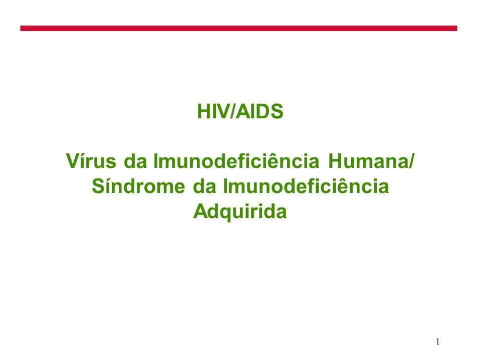 1 HIV/AIDS Vírus da Imunodeficiência Humana/ Síndrome da Imunodeficiência Adquirida
