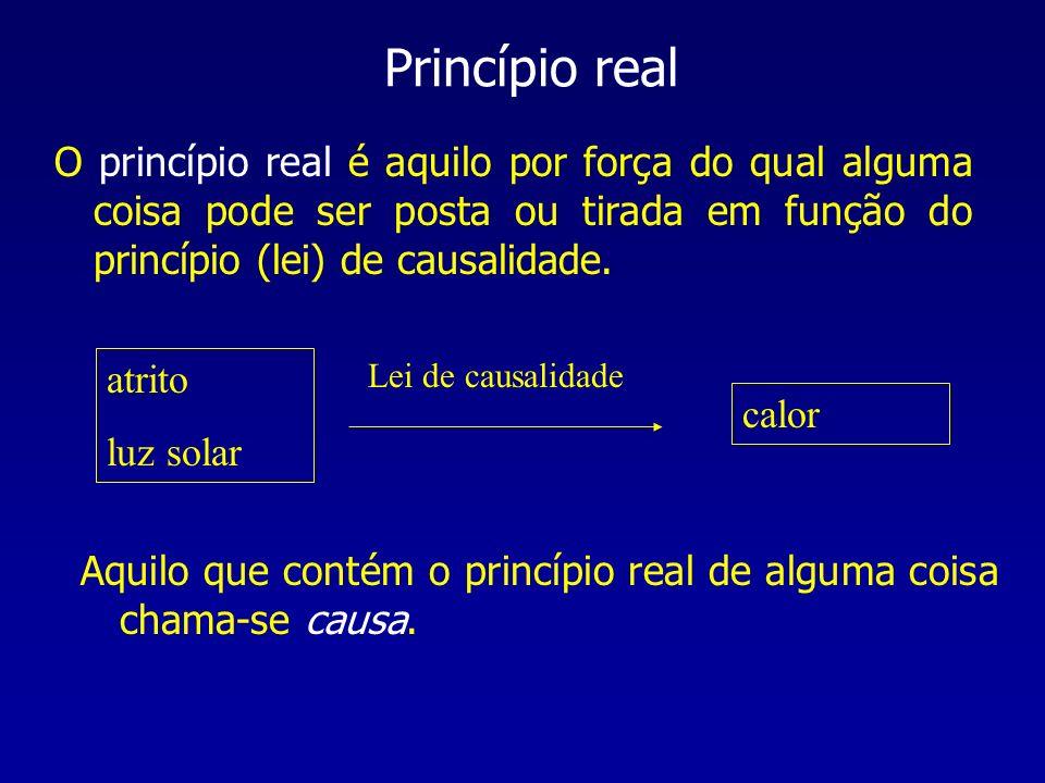 O princípio real é aquilo por força do qual alguma coisa pode ser posta ou tirada em função do princípio (lei) de causalidade. Princípio real atrito l