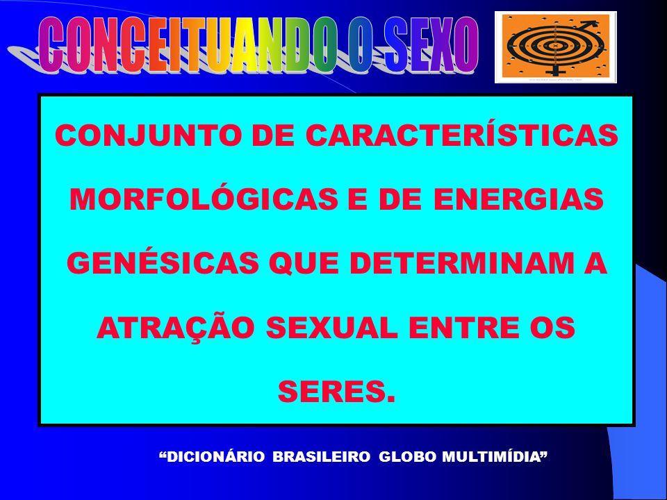 CONJUNTO DE CARACTERÍSTICAS MORFOLÓGICAS E DE ENERGIAS GENÉSICAS QUE DETERMINAM A ATRAÇÃO SEXUAL ENTRE OS SERES.