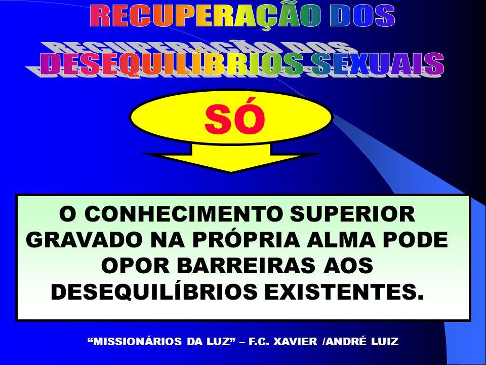 SÓ O CONHECIMENTO SUPERIOR GRAVADO NA PRÓPRIA ALMA PODE OPOR BARREIRAS AOS DESEQUILÍBRIOS EXISTENTES.