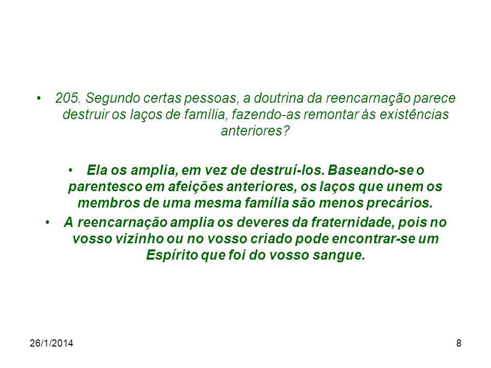 26/1/201419 Bibliografia Livro dos Espíritos – Allan Kardec, Capítulos IV, VI e IX, Itens.