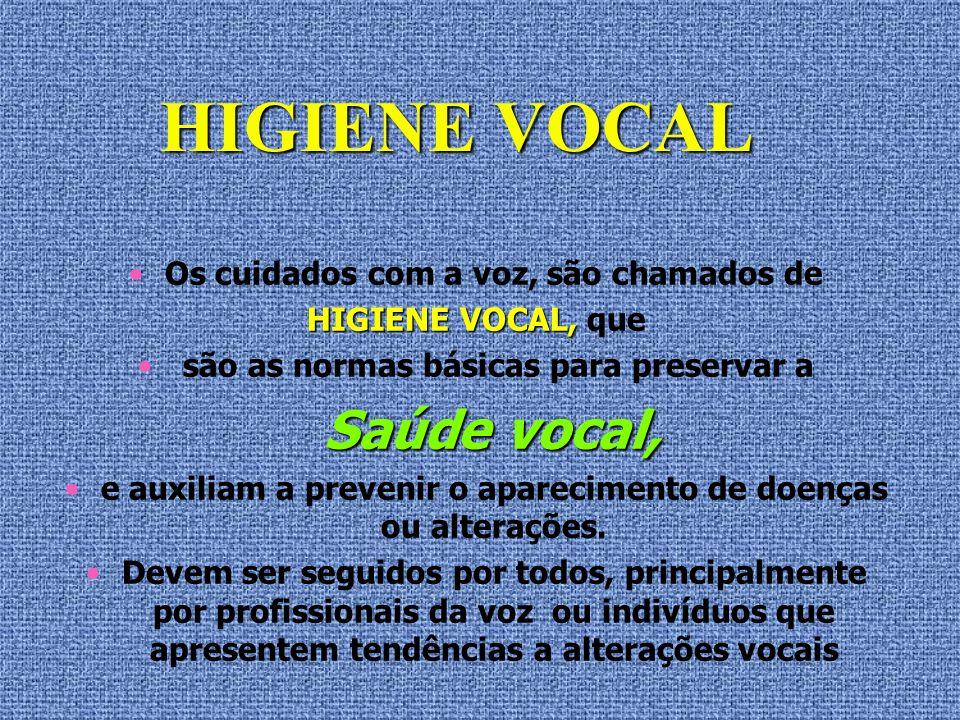 O metabolismo vocal é individual e as reações do corpo humano são únicas e dependem de cada indivíduo em cada momento.