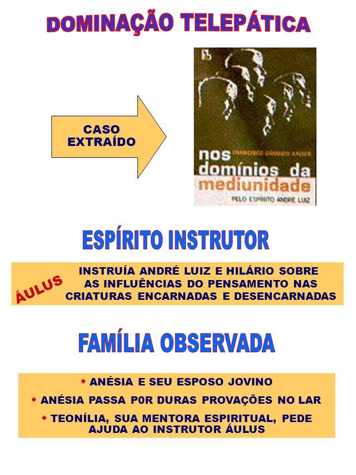 CASO EXTRAÍDO INSTRUÍA ANDRÉ LUIZ E HILÁRIO SOBRE AS INFLUÊNCIAS DO PENSAMENTO NAS CRIATURAS ENCARNADAS E DESENCARNADAS ÁULUS ANÉSIA E SEU ESPOSO JOVI
