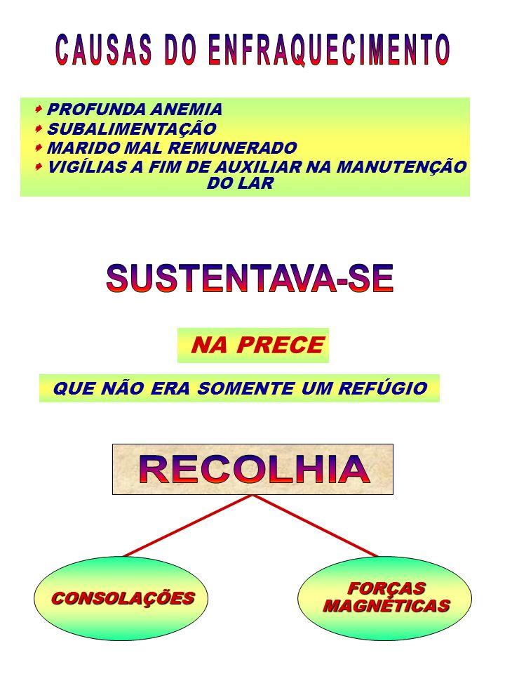 PROFUNDA ANEMIA SUBALIMENTAÇÃO MARIDO MAL REMUNERADO VIGÍLIAS A FIM DE AUXILIAR NA MANUTENÇÃO DO LAR NA PRECE QUE NÃO ERA SOMENTE UM REFÚGIO CONSOLAÇÕ
