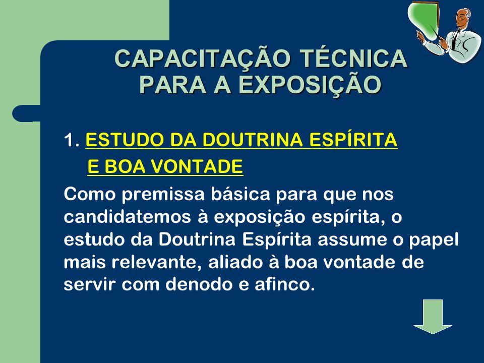 CAPACITAÇÃO TÉCNICA PARA A EXPOSIÇÃO 1.