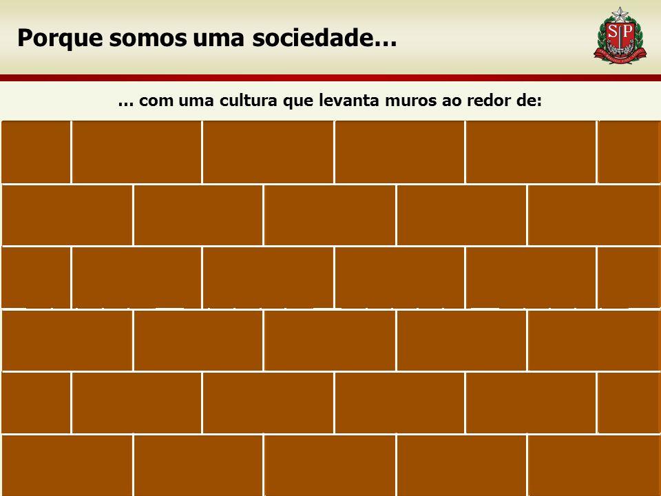 6 Escolas Porque somos uma sociedade… … com uma cultura que levanta muros ao redor de: TrabalhoIndivíduos Família