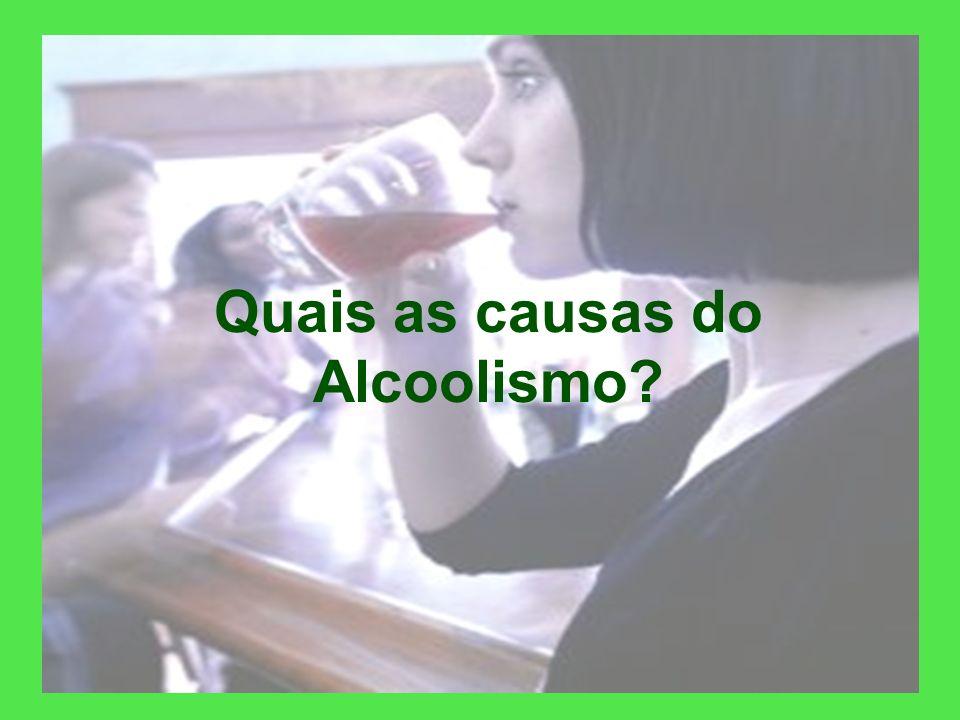 O alcoolismo é uma DOENÇA crônica, considerada como tal pela OMS (Organização Mundial de Saúde); Possui um CID (Código Internacional de Doenças) É car