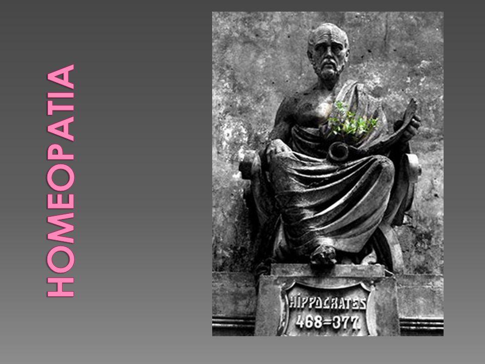 Do grego : pathos + homois (doença) (semelhante) Criada por Samuel Hahnemann, médico alemão, designa um método terapêutico cujo principio está baseado na Similla Similabus Curantur (os semelhantes curam-se pelos semelhantes).