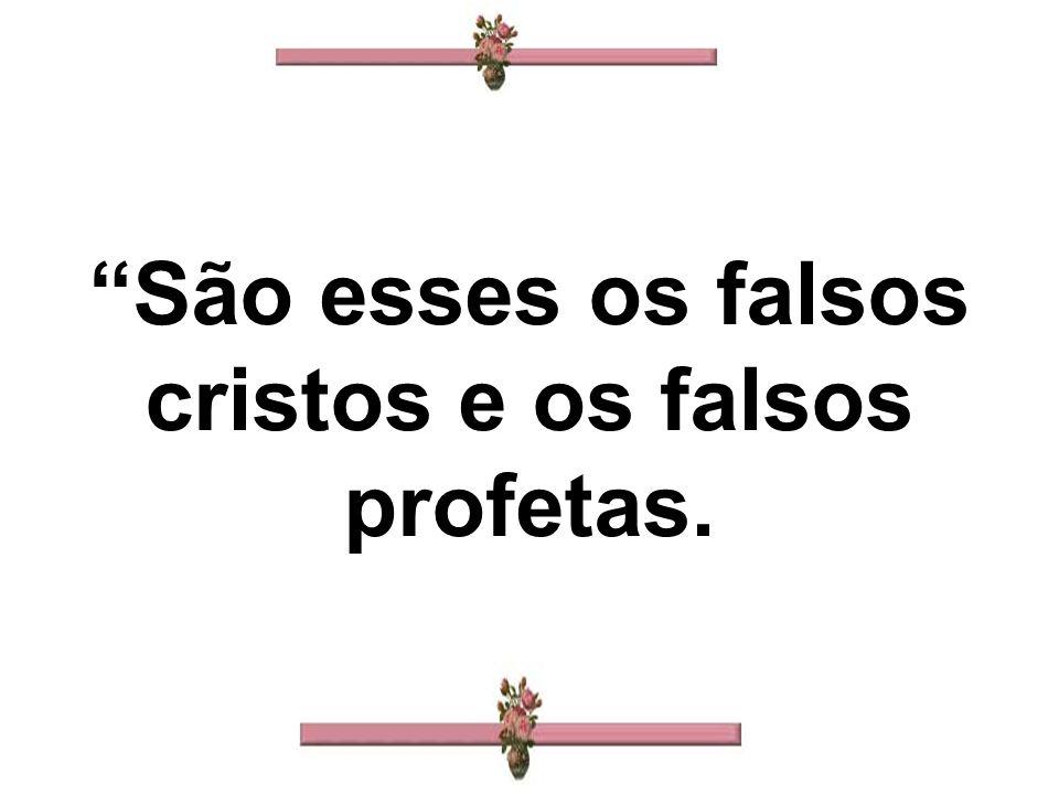 São esses os falsos cristos e os falsos profetas.