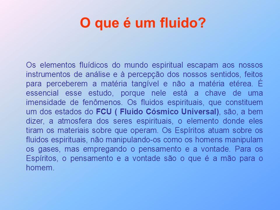 O que é um fluido? Os elementos fluídicos do mundo espiritual escapam aos nossos instrumentos de análise e à percepção dos nossos sentidos, feitos par