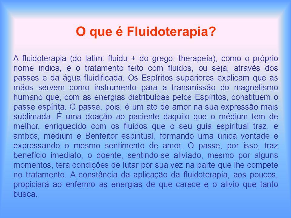 O que é Fluidoterapia? A fluidoterapia (do latim: fluidu + do grego: therapeía), como o próprio nome indica, é o tratamento feito com fluidos, ou seja