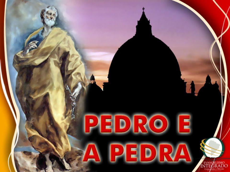 Pois também eu te digo que tu és Pedro, e sobre esta pedra edificarei a minha igreja, e as portas do inferno não prevalecerão contra ela.