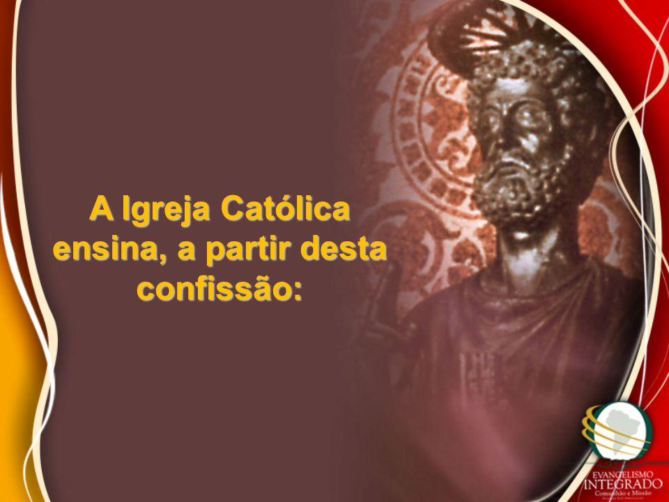 A Igreja Católica ensina, a partir desta confissão: