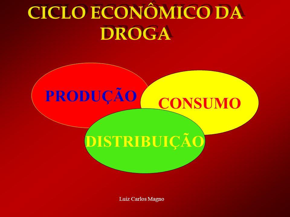CICLO ECONÔMICO DA DROGA PRODUÇÃO CONSUMO DISTRIBUIÇÃO Luiz Carlos Magno