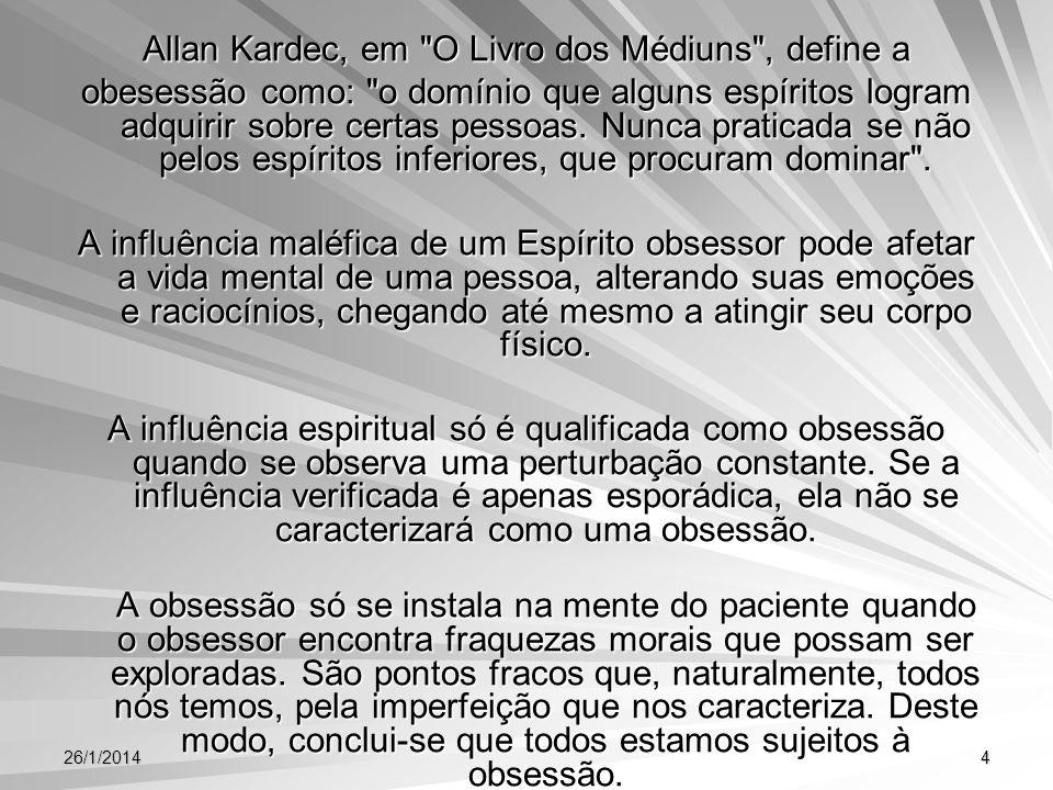 26/1/20144 Allan Kardec, em